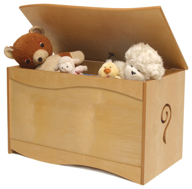Natural Toy Box Contemporary Kids Storage Benches And Toy Boxes