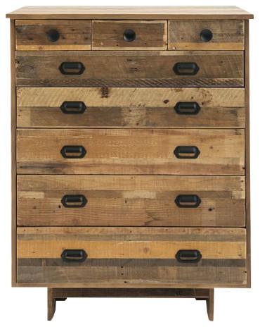 Reclaimed Wood 8-Drawer Dresser.