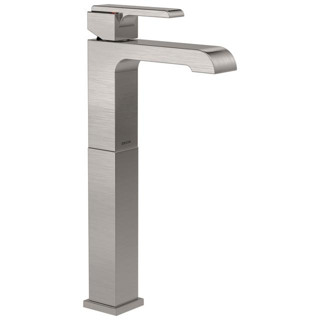 Delta ara single handle vessel lavatory faucet - Delta contemporary bathroom faucets ...