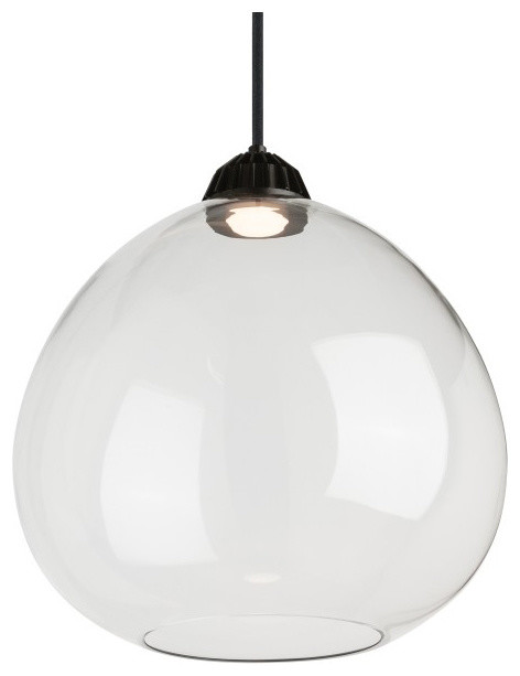 Tech lighting bristol large led line voltage pendant with canopy clear pendant lighting