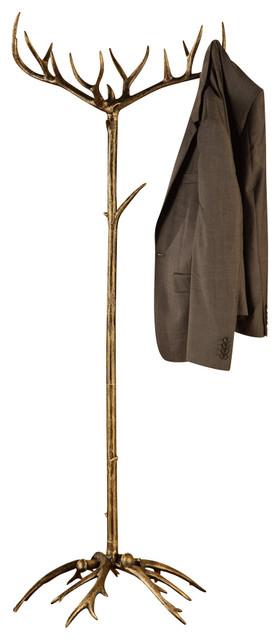 Shop Houzz Spi Antler Coat Rack Coatracks And Umbrella