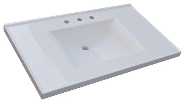 Wave Bowl Cultured Marble Vanity Top