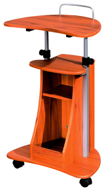 Techni Mobili Rolling Laptop Cart With Storage.