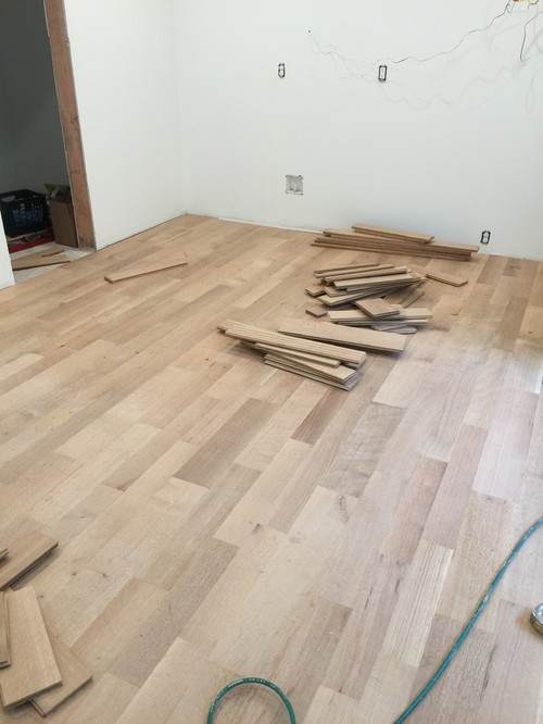 Unfinished white oak floors Unstained hardwood floors