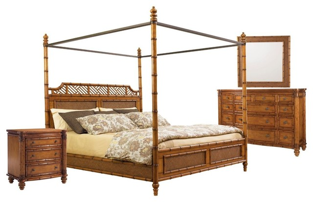Tommy Bahama Home Island Estate West Indies 4-Piece Bedroom Set 2, Queen