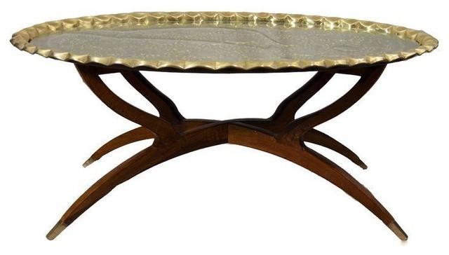 Mid Century Modern Moroccan Brass Spider Table