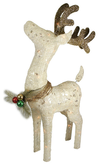37 sparkling sisal standing reindeer christmas yard art for Sisal decoration