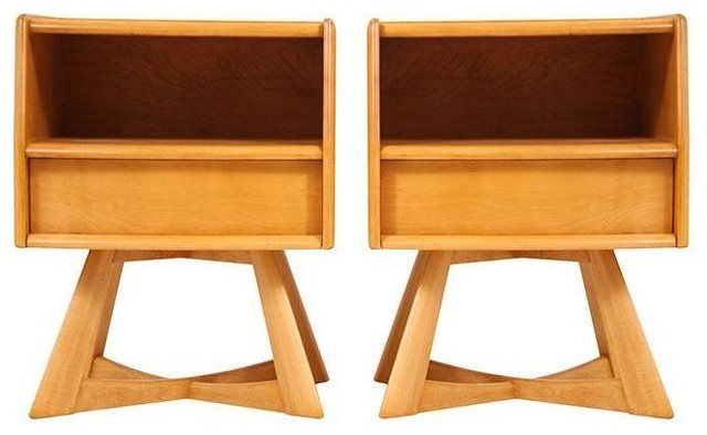 Heywood Wakefield Mid Century Night Stands  Midcentury Nightstands And Bedside Tables