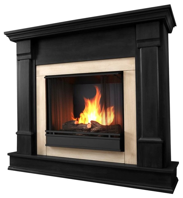 Silverton Gel Fireplace Black Contemporary Indoor