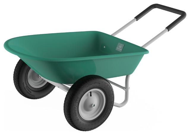 Pure Garden Large Capacity 2 Wheel Utility Wheelbarrow