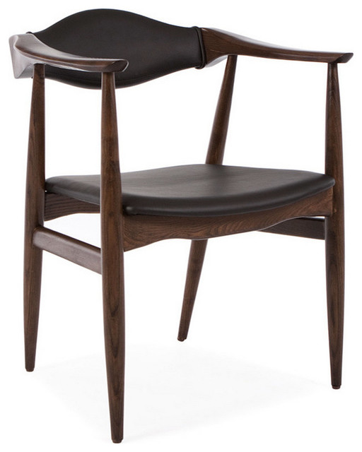 Midcentury Danish Leather Dining Armchair Wenge  sc 1 st  Houzz & Midcentury Danish Leather Dining Armchair - Midcentury - Dining ...