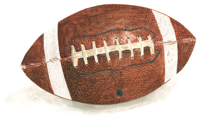 Sports And Games, Football, Canvas Wall Art, 14x14 - Contemporary ...
