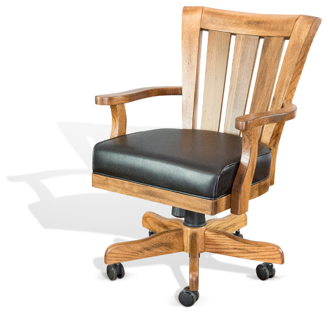 Slat Back Chairs sedona slat back game chair with casters - traditional - gaming