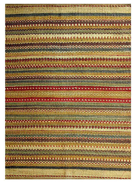 Hand woven sindhi green jute rug modern rugs by for Decor international handwoven rugs