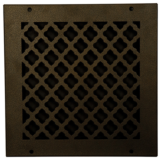 """Steel Return Vent Cover, Oil-Rubbed Bronze, Fits Duct Opening 10""""x10""""."""