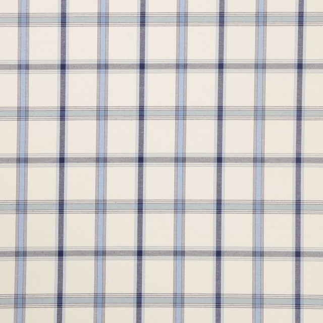 Surf Blue Plaid Woven Upholstery Fabric Farmhouse Upholstery