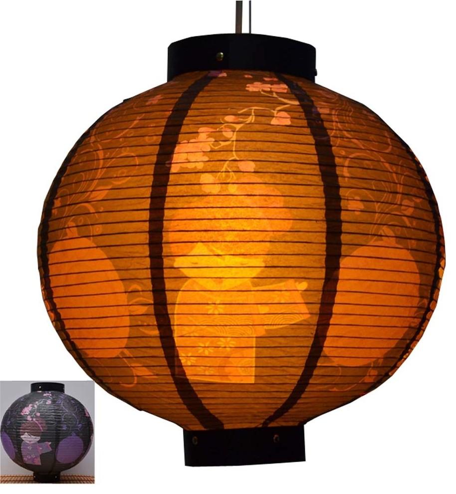 2 vintage paper lanterns made in Japan