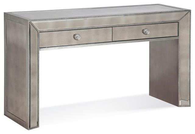 Beautiful Bassett Mirror Murano Console Table In Antique Mirror Contemporary Console  Tables