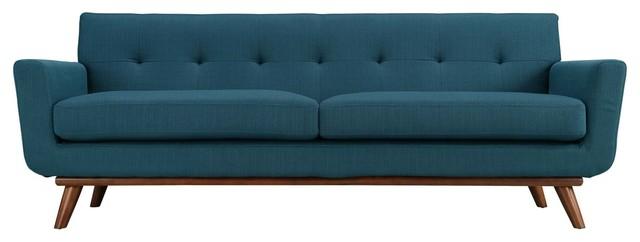 Engage Upholstered Sofa, Azure.