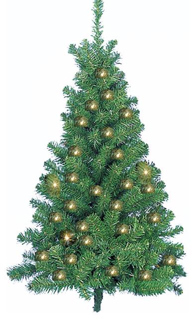 Norway Pine Wall Tree Pre Lit Traditional Christmas