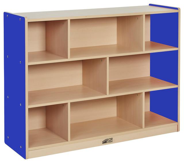 Ce 8 Compartment Storage Cabinet 36h, Bl.