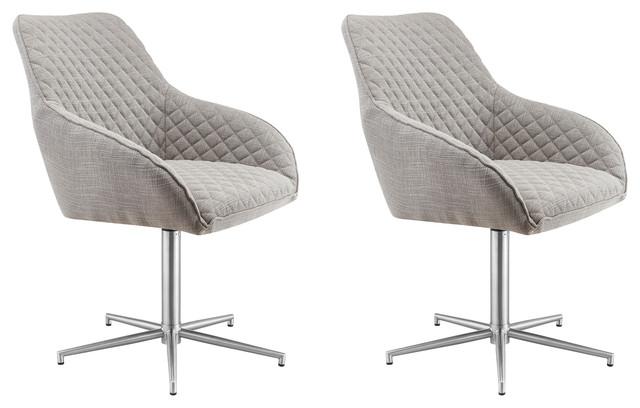 Bronx Swivel Chairs, Set of 2, Grey