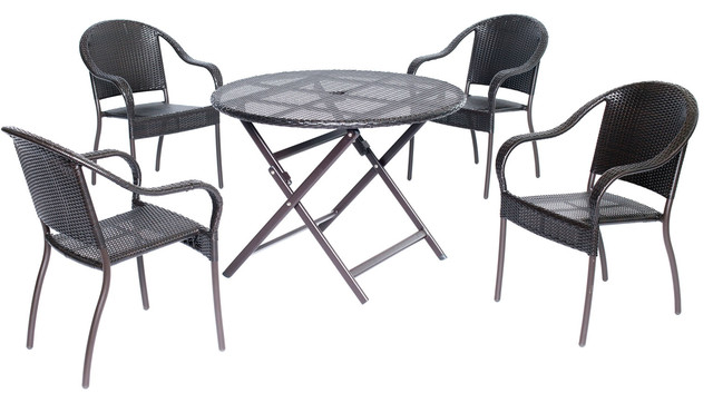piece dining set with 40 round table transitional outdoor dining sets