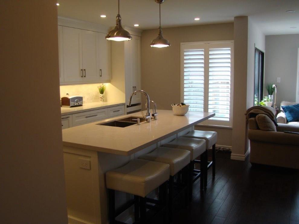 Mississauga Simply White Kitchen