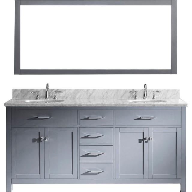 Caroline 72 Double Vanity Cabinet Set Transitional Bathroom