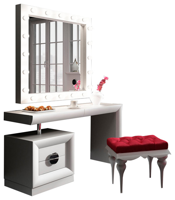 Hispania home t03 bedroom make up vanity 55 quot amp reviews houzz