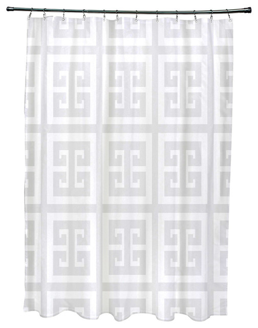 Geometric Shower Curtain Paloma Mediterranean Shower Curtains By E By Design