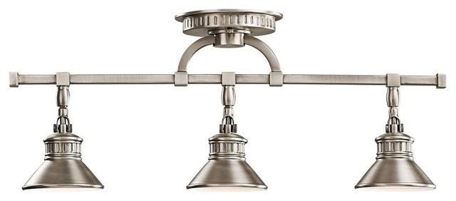 Kichler Lacey Antique Pewter Four Light Bath Fixture: Kichler Sayre 3-Light Track Lighting, Antique Pewter