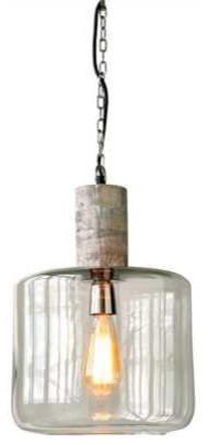 the latest 8cf87 cea84 Mango Wood and Glass Pendant Light