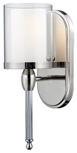 Transitional Bathroom Wall Sconces z-lite 1 light wall sconce - transitional - bathroom vanity
