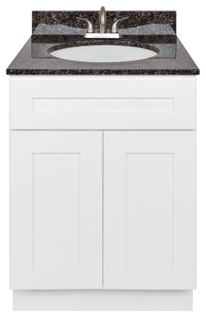 Eviva Marina 24 White Bathroom Vanity With Integrated Porcelain Sink