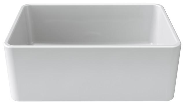 Latoscana 27 Reversible Fireclay Farmhouse Sink Contemporary Kitchen Sinks