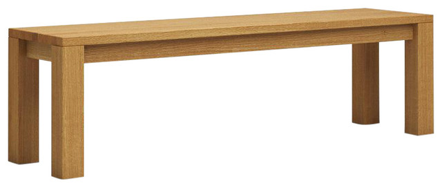 Classic Wooden Dining Bench, Oak, Large