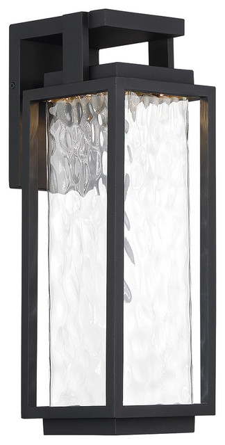 "Two if By Sea 18""Outdoor Wall-Light 3000K, Black"