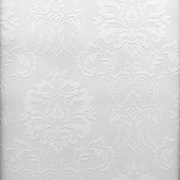 Damascene Regal Print Paintable Wallpaper Bolt