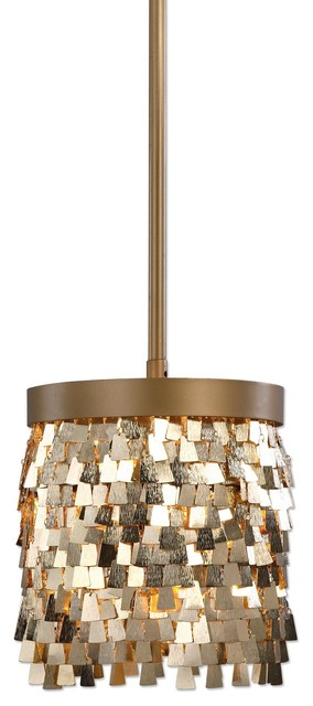 Uttermost Tillie 1 Light Mini Pendant Gold
