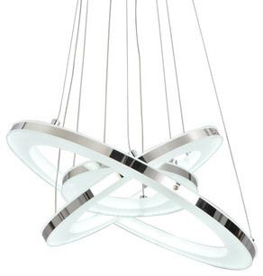 Rings LED Pendant Light, White