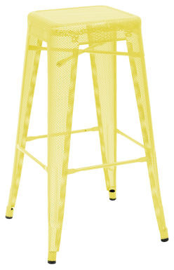 H High Stool, Perforated, Lacquered Steel