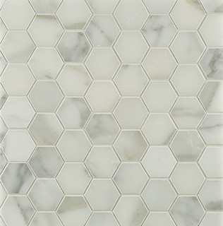 any idea how to get the look of calacatta hex tile for a bathroom floor without the expensive price tag - Bathroom Floor Tile