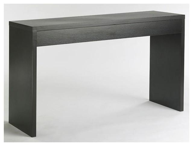 Contemporary Espresso Black Wood Grain Sofa Table Living Room Console Table
