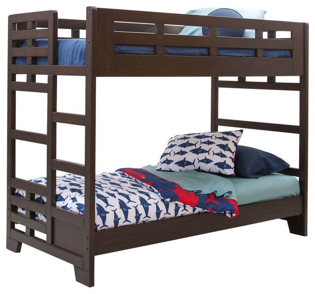 Billings Twin Over Twin Bunkbed Transitional Bunk Beds By