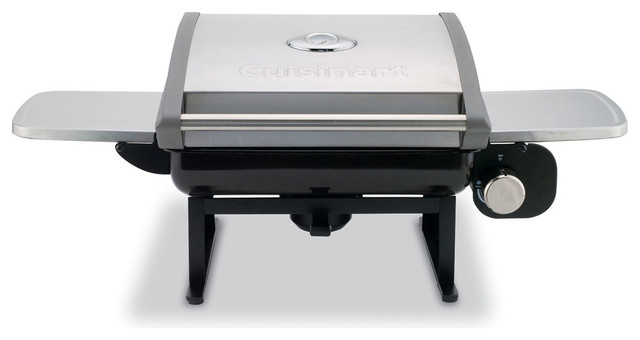 All-Foods Tabletop Outdoor Gas Grill With Veggie Panel.