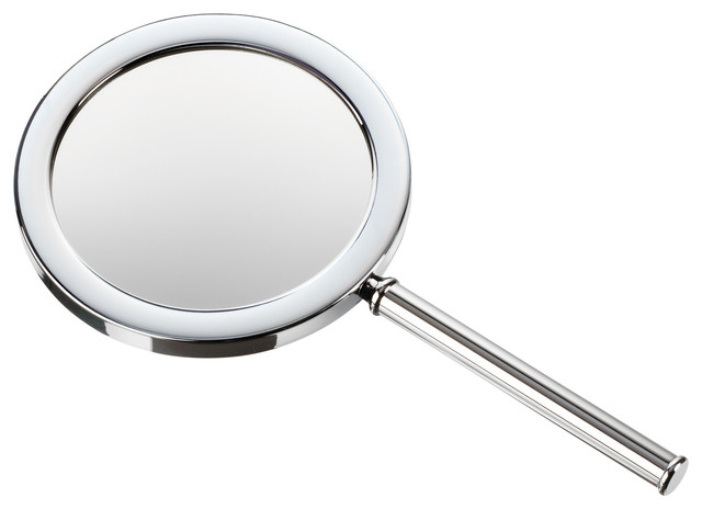 Dwba Round Hand Held Cosmetic Makeup Magnifying Mirror 3x