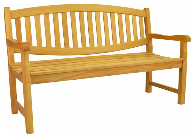 Anderson Teak Patio Lawn Garden Furniture Kingston 3 Seater Bench Contemporary Outdoor
