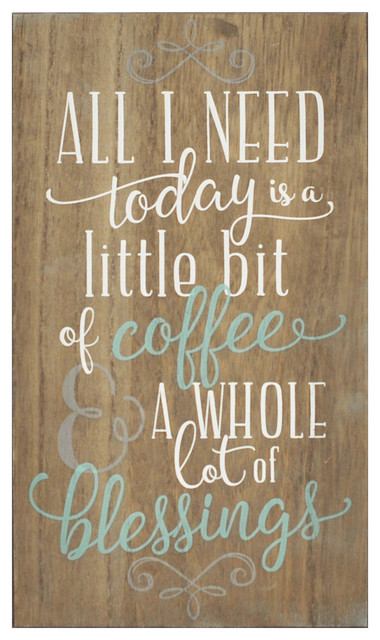 Stratton Home Decor Coffee And Blessings Wall Art.