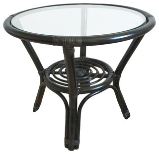 Rattan Round Coffee Table Diana Tropical Coffee Tables By Alidia Furniture Inc